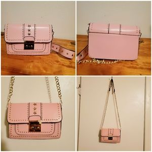 NWOT Pink Golden Chain Accent Purse